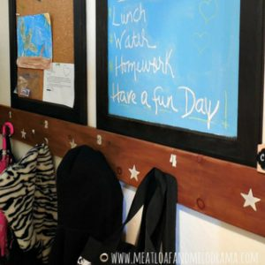 DIY Upcycled Bulletin Board and Message Center