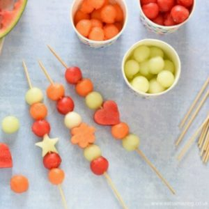 Easy Melon Fruit Kebabs for Kids Recipe