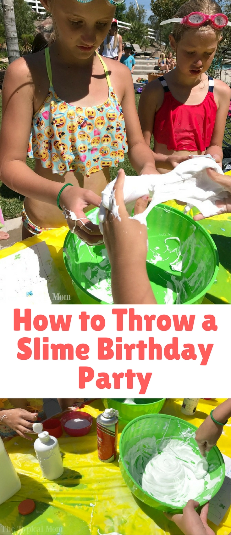 How to throw a slime birthday party blogger bests for How to throw a big party