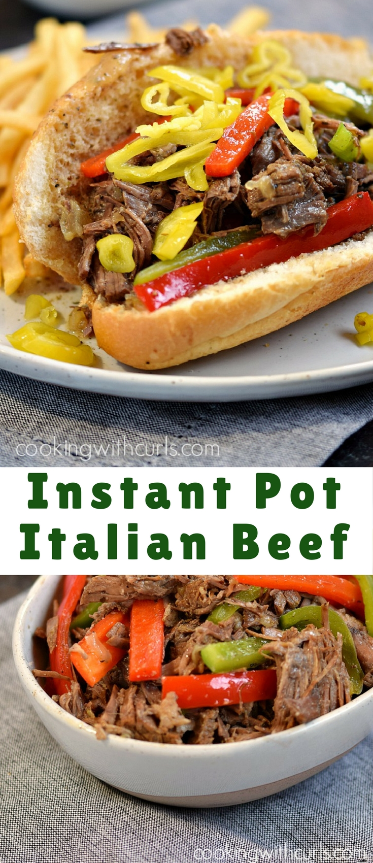This Instant Pot Italian Beef has all the flavors of the original while remaining Paleo and Whole 30 compliant - minus the Italian roll!