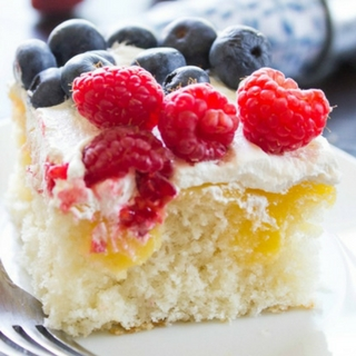 Lemon Berry Poke Cake