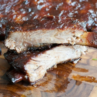 Peach Honey BBQ Ribs
