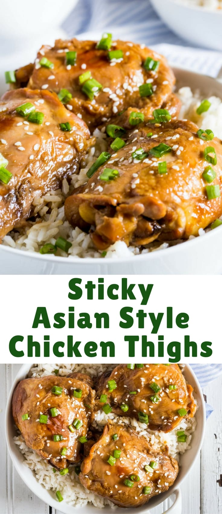 Sticky Asian Style Chicken Thighs Blogger Bests