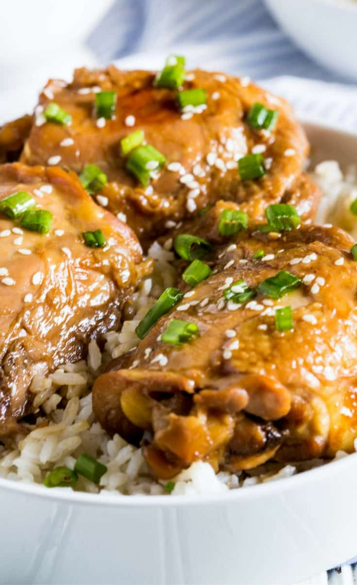 You'll love my Sticky Asian Style Chicken Thighs, it's perfect family food!