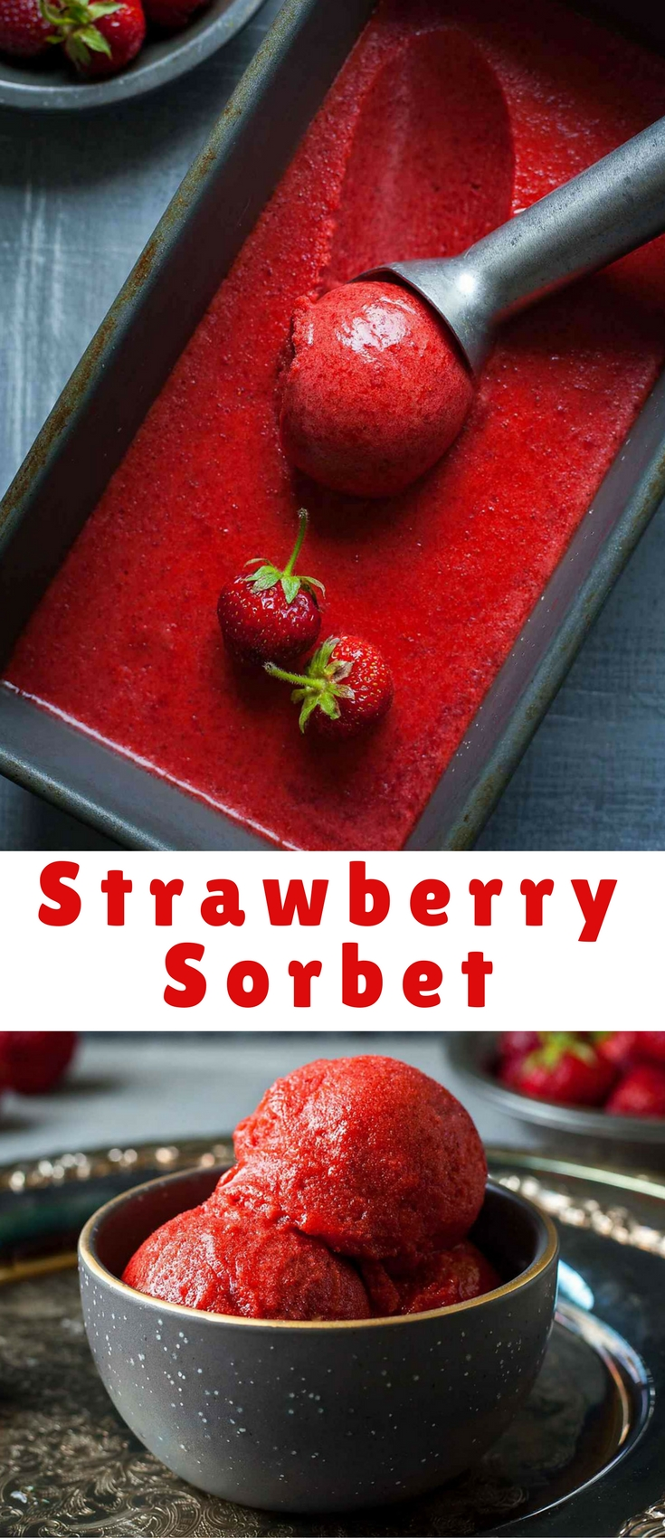 Ripe strawberries sweetened with raw honey for an easy, fresh, frozen treat.