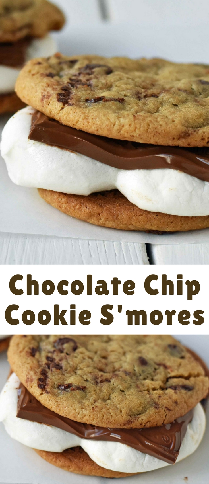Warm homemade chocolate chip cookies stuffed with toasted marshmallow and melted milk chocolate.