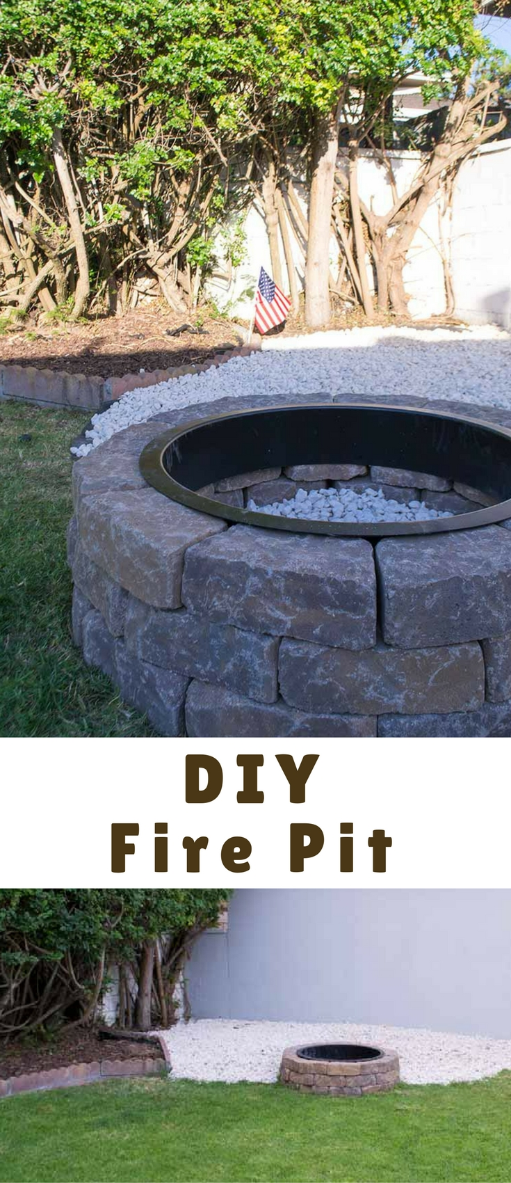 Our DIY Fire Pit for instant backyard appeal was a weekend project that only took a day. It is perfect for summer gatherings and making s'mores with kids!