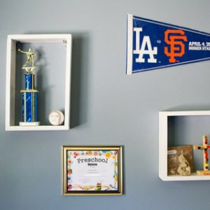 DIY Wall Display Boxes for Kid's Momentos
