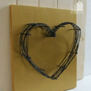Wire and Nail Heart Decor