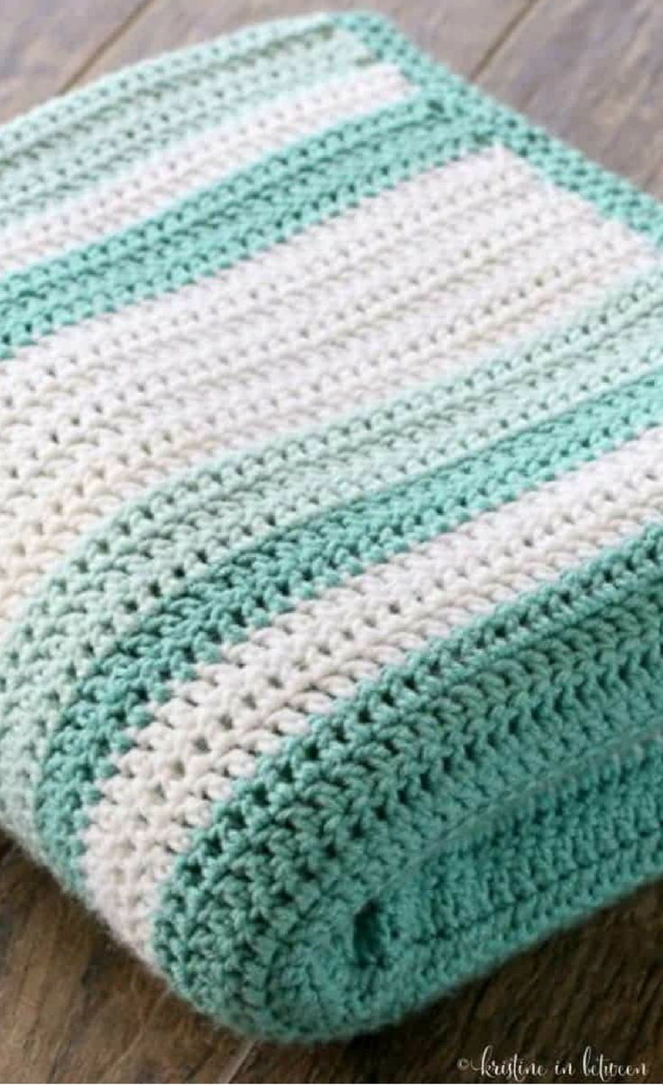 This gorgeous all double crochet afghan was my very first one and has become one of my favorite blankets ever! All18,000 stitcheswere well worth it!