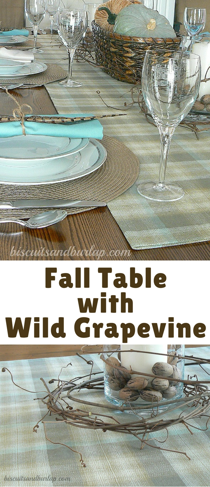 This fall table will be great through the month of November, including Thanksgiving.