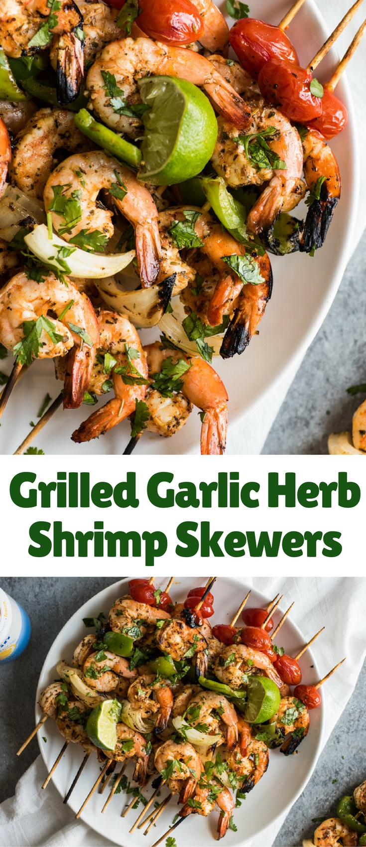 Grilled Garlic Herb Shrimp Skewers - Blogger Bests