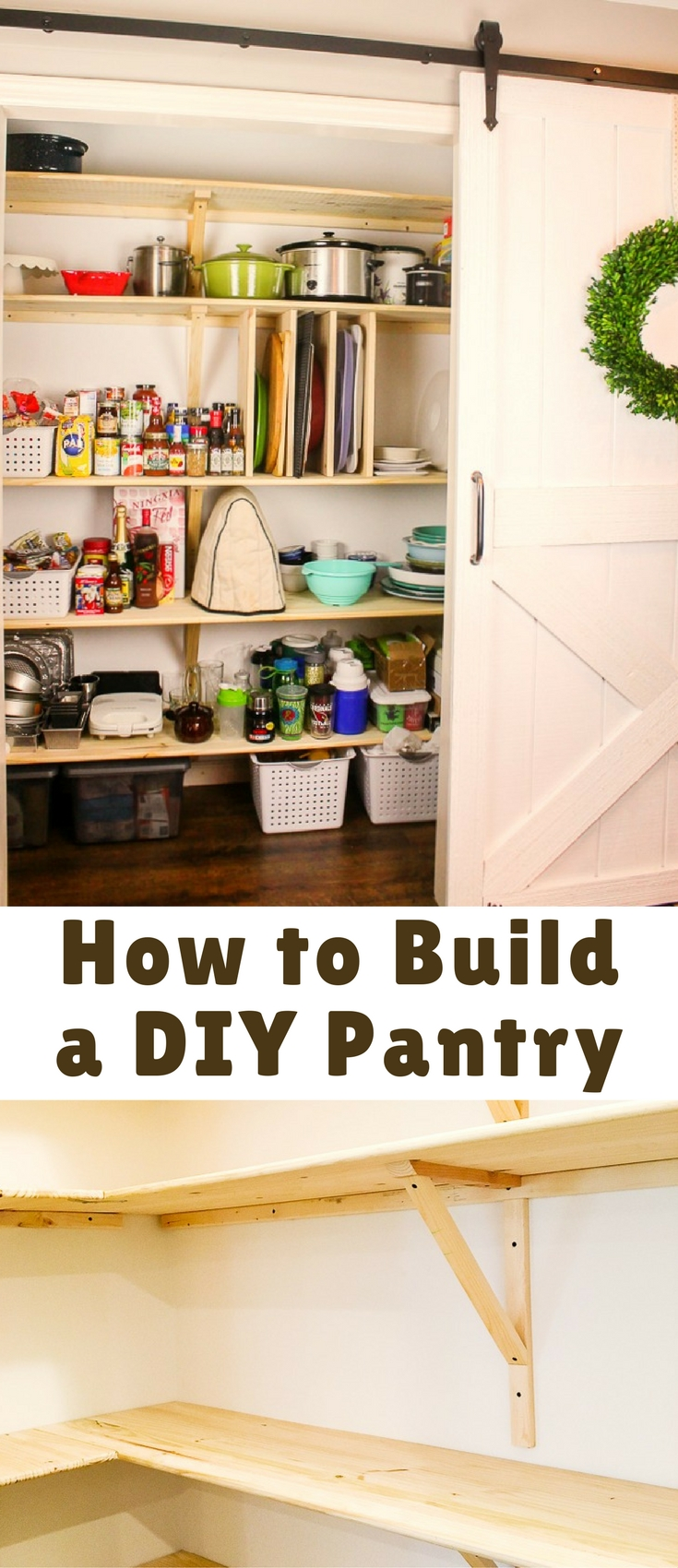 This tutorial for how to build a DIY pantry might just be my favorite! It's practical, affordable and I pretty much can't stop standing in front of it giggling! The best part is, we finished it in just one weekend (and really it could have been done in one day)! Go build yourself a pantry… it is amazing!