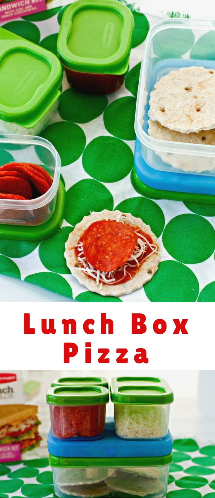 Lunch Box Pizza - Your kids will love these mini pizzas at lunchtime. They're easy to prepare and so fun!