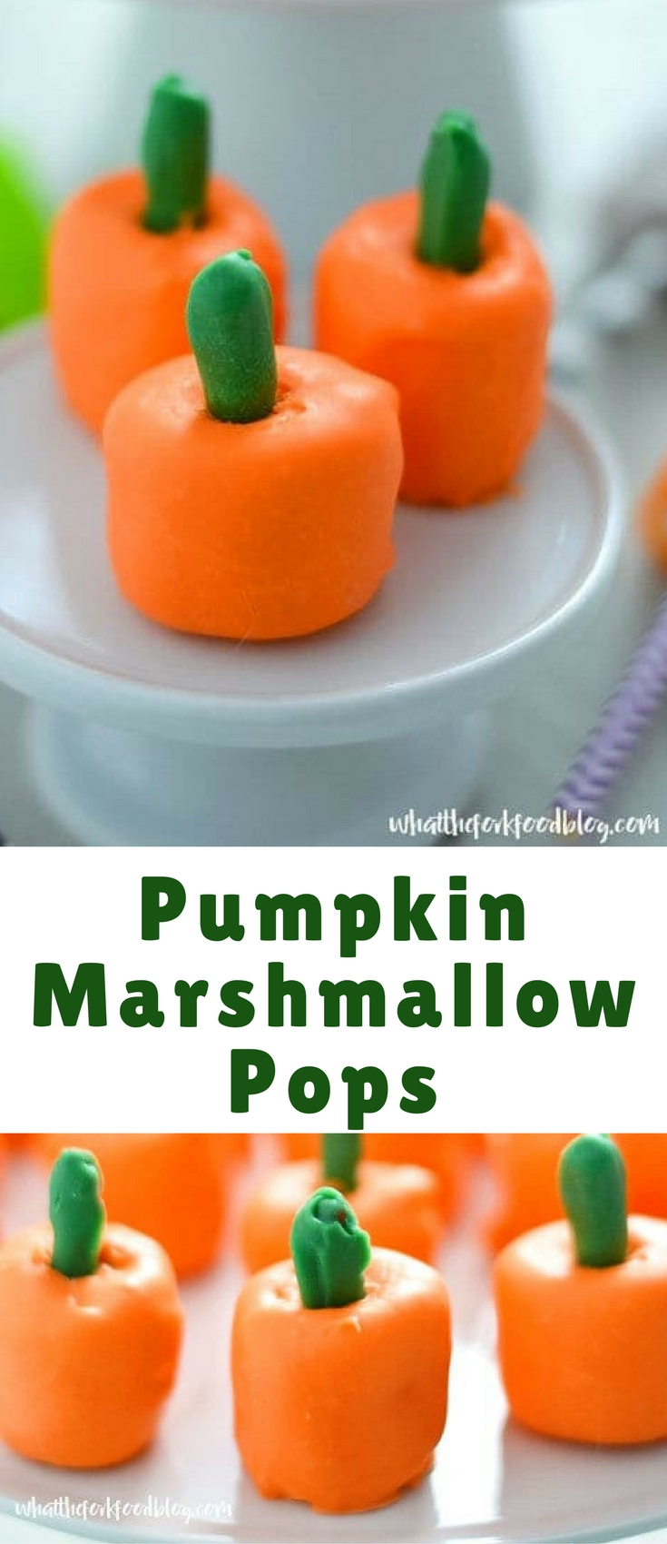 These fun Pumpkin Marshmallow Pops are perfect for Fall or Halloween Parties or even Thanksgiving. They're cute, festive, and easy to make!