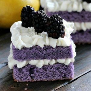 Purple Cake with Lemon Cream