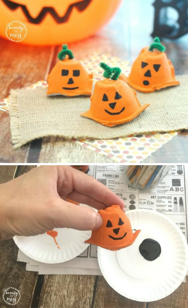 Check out these adorable egg carton pumpkins for Fall! If you are like us, you go through so many eggs each week. Keep those empty egg cartons. Don't throw them away!