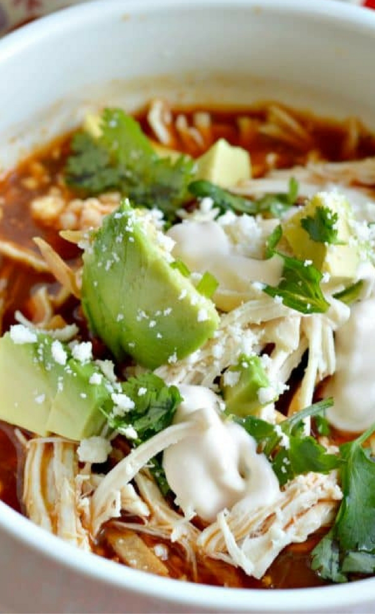 Chicken Tortilla Soup is very easy to make and you can prepare it from start to finish in under thirty minutes.