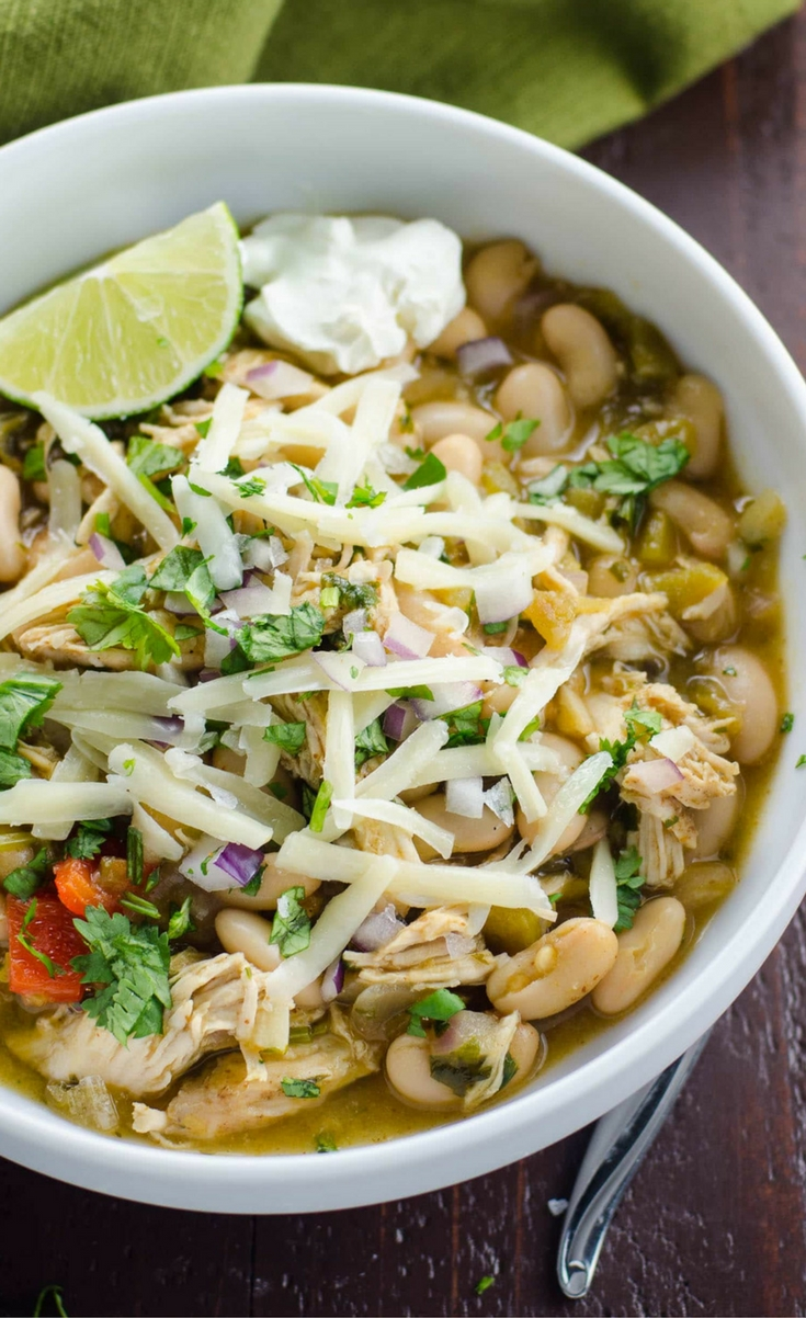 An easy and comforting chicken and white bean chili recipe (or substitute leftover turkey) that's just right for these cozy months.
