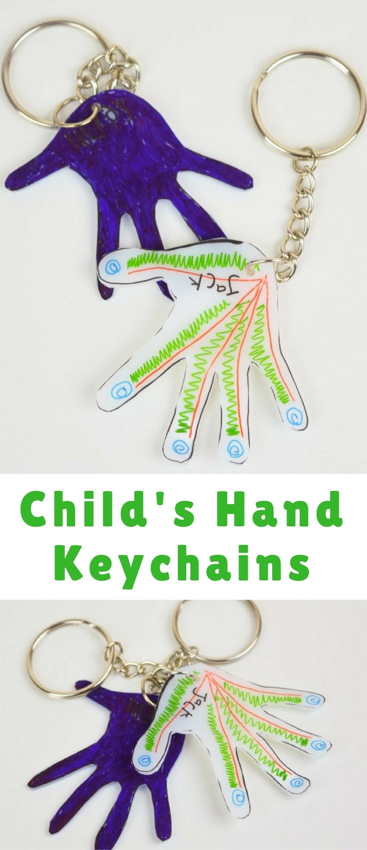 These little Child's Hand Keychains are perfect for capturing their precious hands into something that a mother, grandmother, father, etc. can take with them wherever they go. It's perfect! Something usable and sentimental.