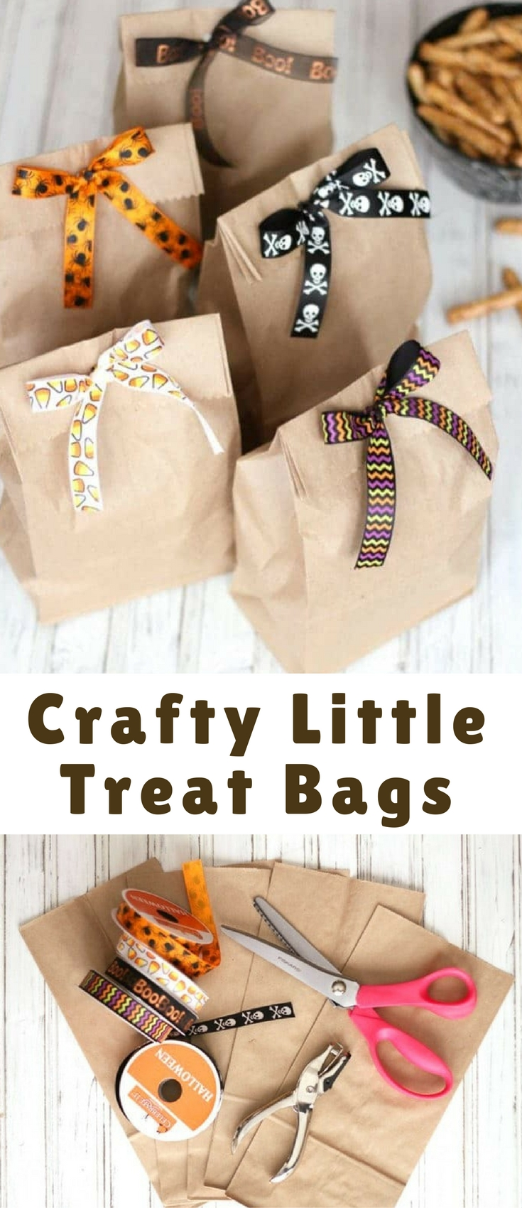 This is probably one of the cutest (and easiest) crafts I've posted! I get tons of compliments on these little homemade treat bags!