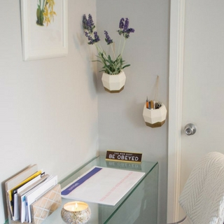 DIY: Super Easy Hanging Wall Planters