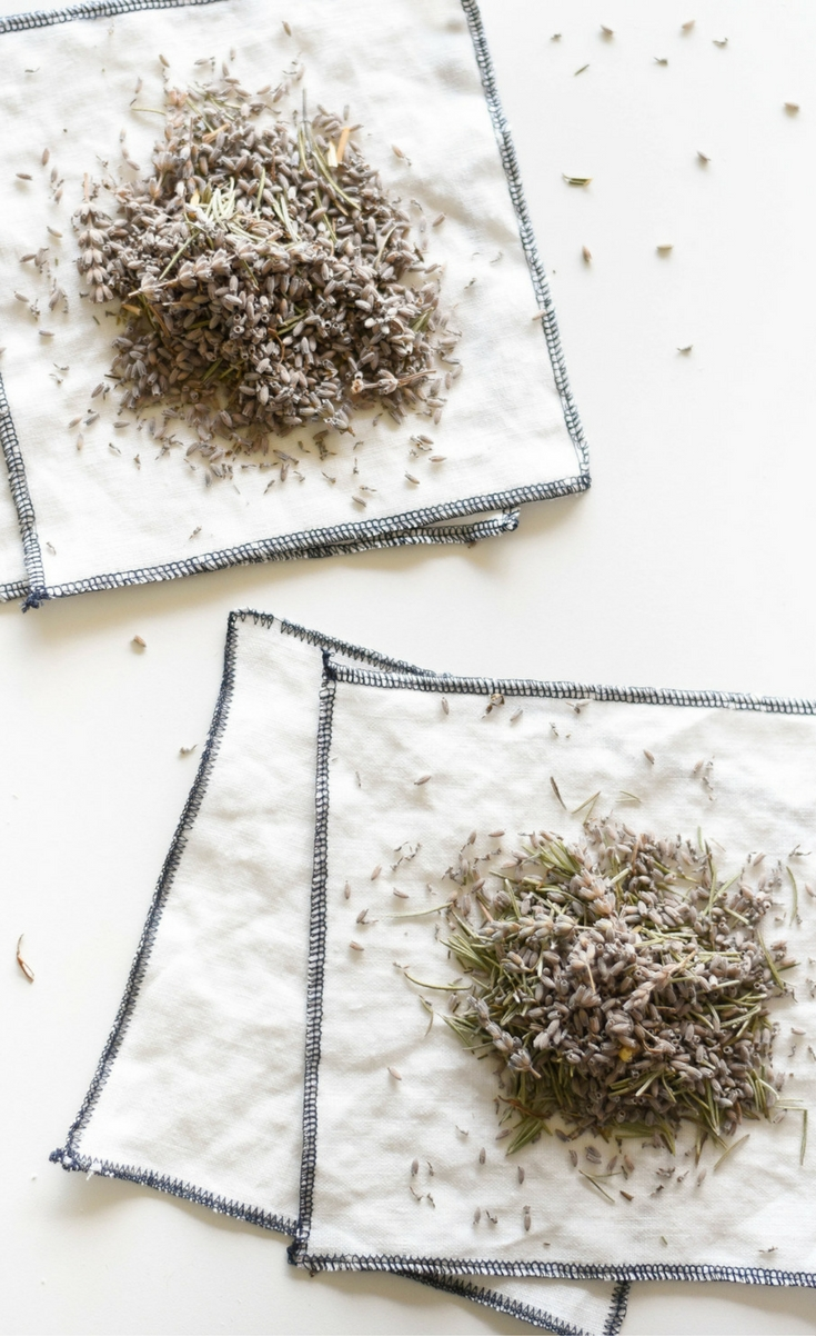 A chemical free way to keep clothes fresh with DIY lavender herb sachets.