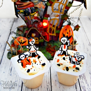 Easy and Fun Halloween Pudding Cups