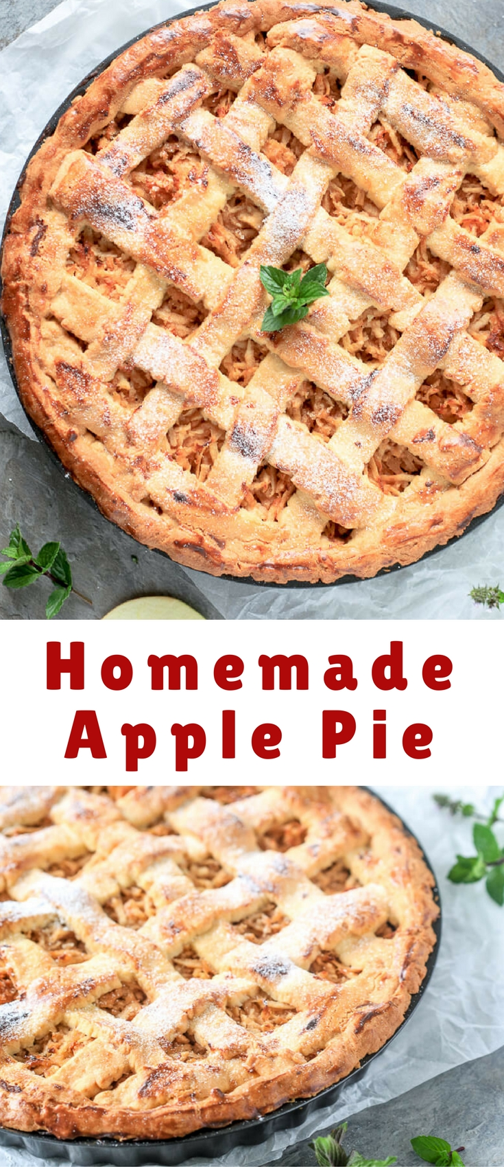This Homemade Apple Pie is rustic and classic, just like grandma used to make it. Just like a good homemade pie is supposed to be.