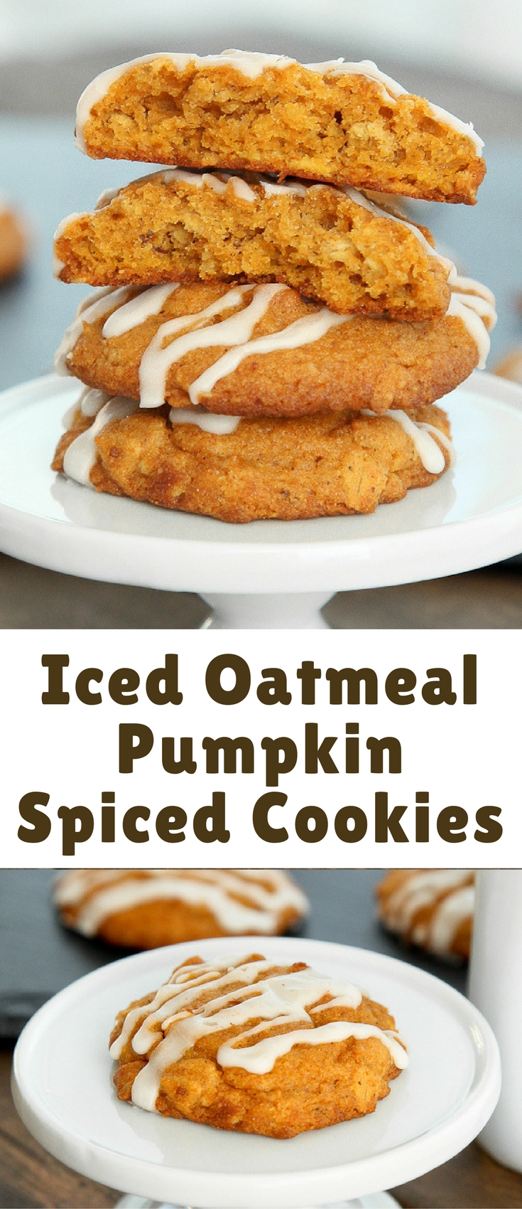 Iced Oatmeal Pumpkin Spiced Cookies - Blogger Bests
