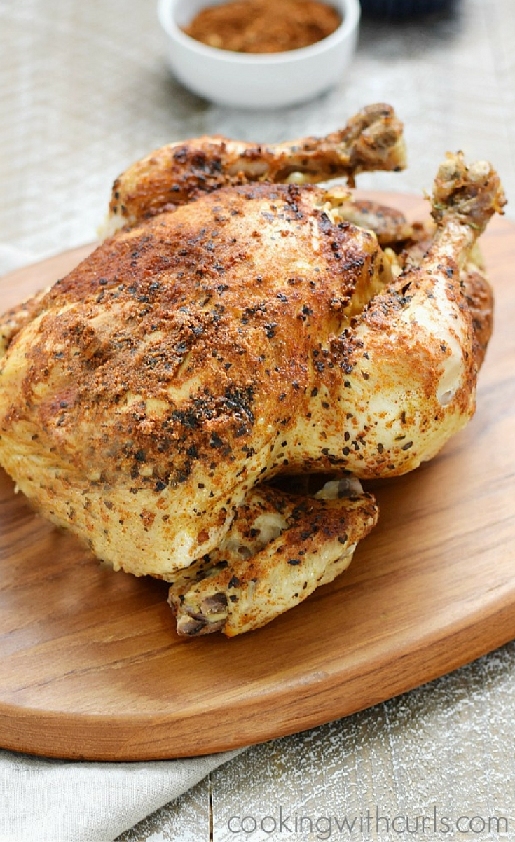 Do you ever find yourself at the grocery store buying a week's worth of food, then reach for a rotisserie chicken because you no long have the energy to go home and cook what you just purchased? I admit it, I am guilty. My Instant Pot Faux-tisserie Chicken is pure goodness…..