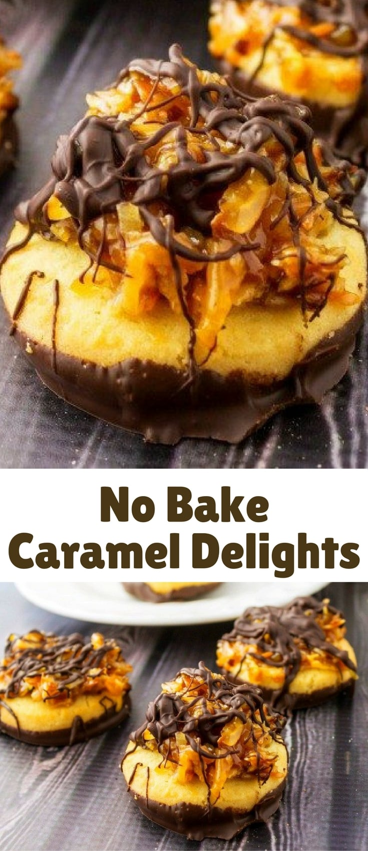 No bake caramel delights are inspired by Girl Scout cookies. These are easy and lots of fun to make.
