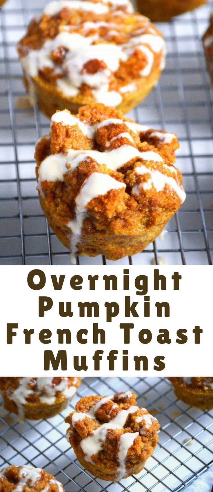 Pumpkin French Toast Muffins with a maple syrup glaze are an easy, no-flipping required version of french toast. Make the batch up at night, bake in the morning and you have a hot and tasty fall breakfast!