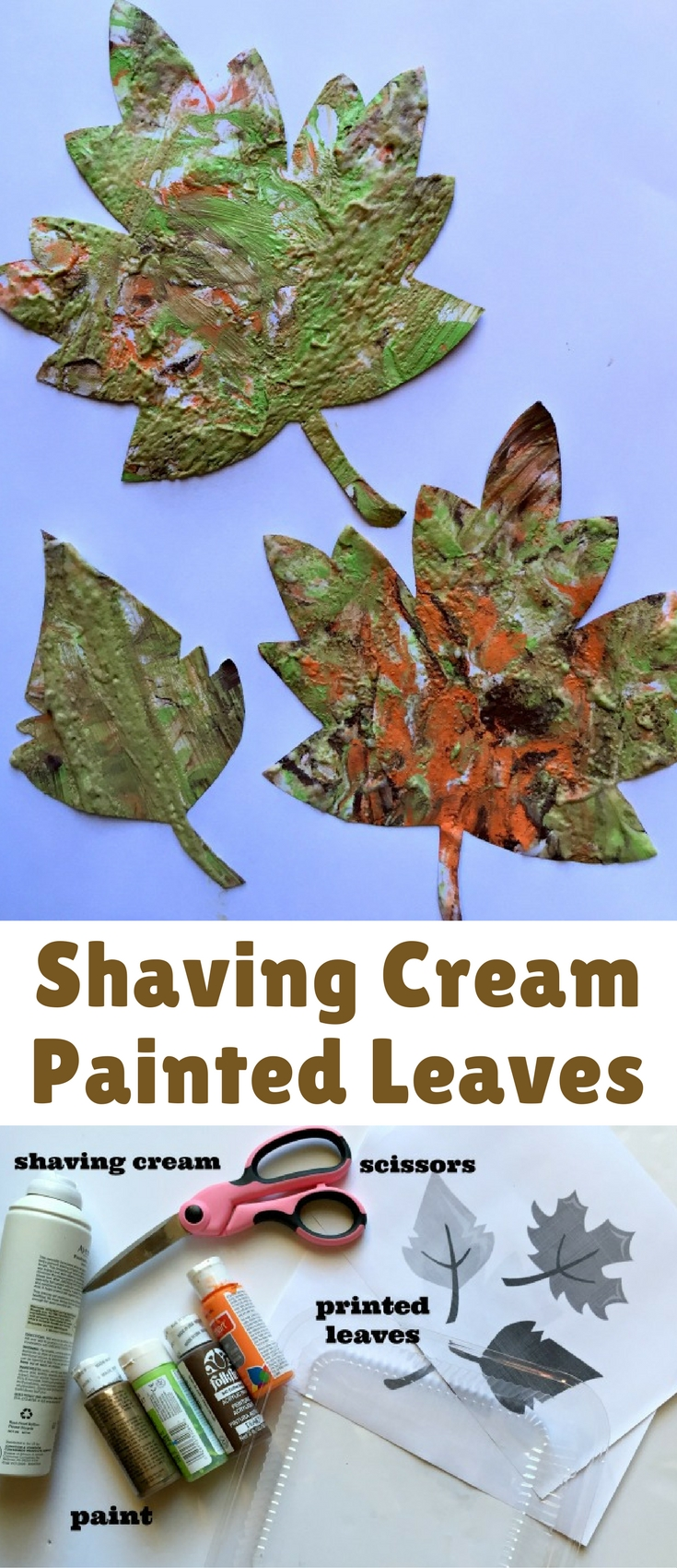 Have you or your child ever painted with shaving cream before? Give it a try the next time your child wants to paint!