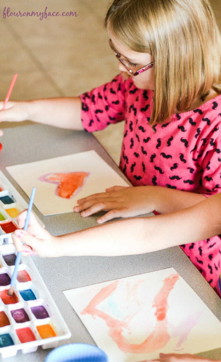 DIY Watercolor Paints are easy to make and safe enough and non-toxic for the younger kids to help with.