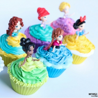 Easy Disney Princess Cupcakes with Video Tutorial