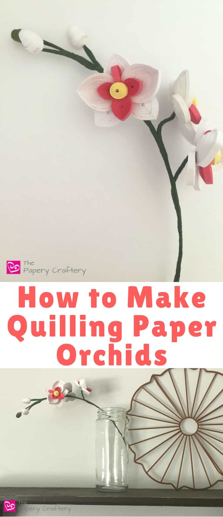 I hope you're inspired to after this tutorial on how to make quilling paper orchids and decide to roll your own!