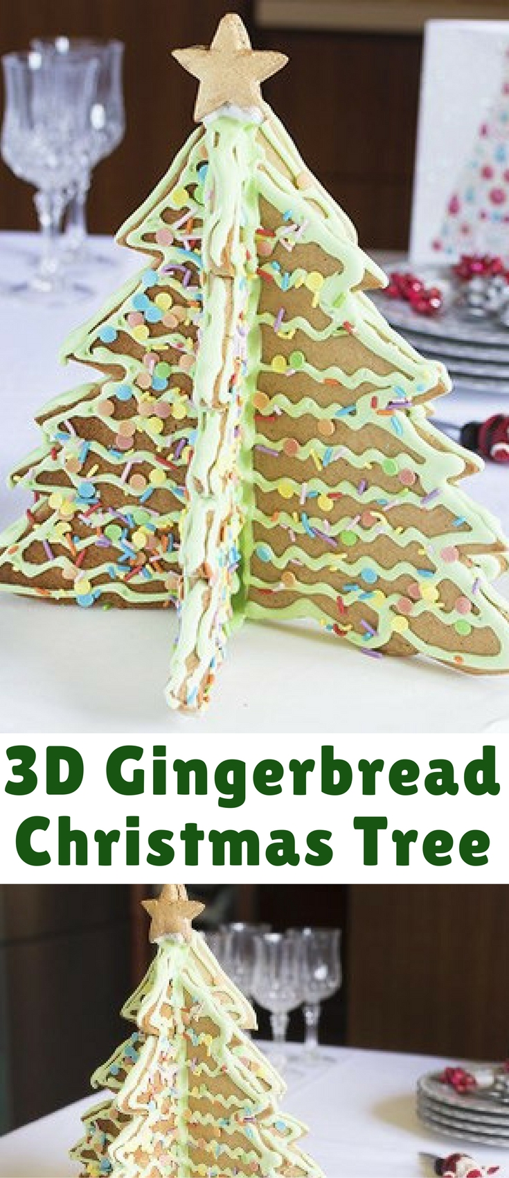 Make this showstopping Gingerbread Christmas Tree as a centrepiece for your festive table.