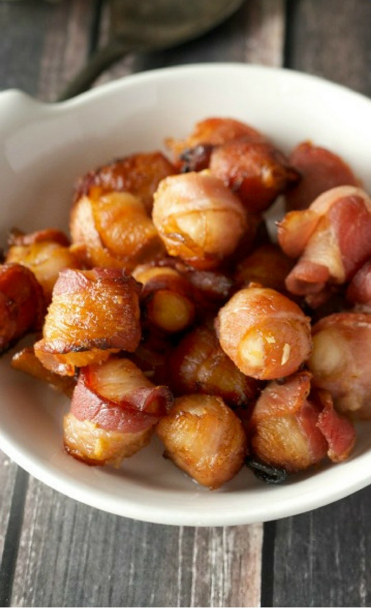 TRY THESE BACON WRAPPED NUTS THE NEXT TIME YOU NEED A QUICK AND EASY CROWD PLEASER.