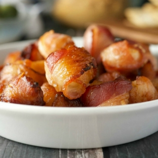 Bacon Wrapped Tropical Macadamia Nuts