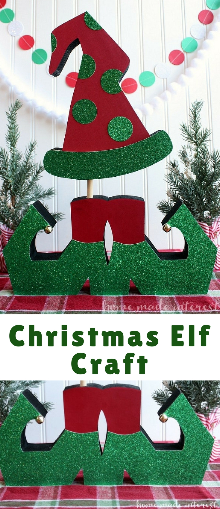 Decorate your house for Christmas with this simple Christmas Elf Craft!
