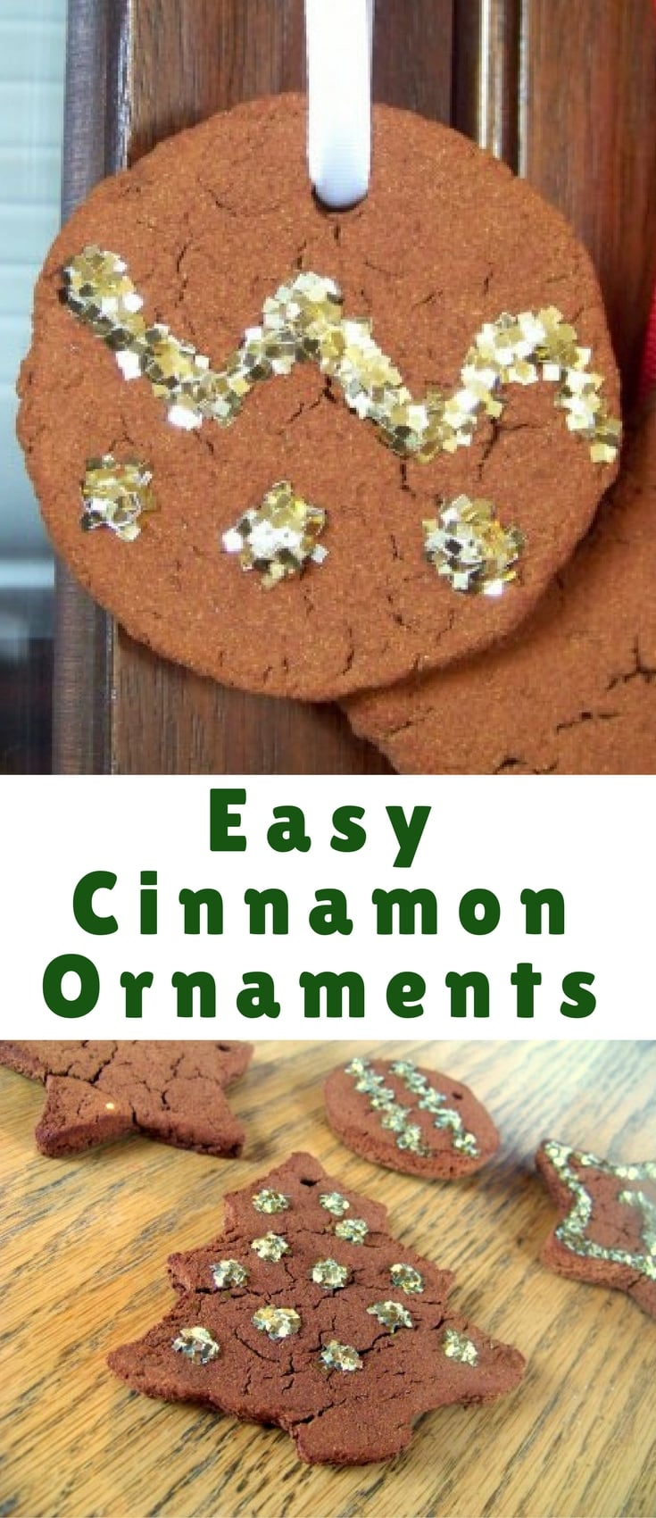 Cinnamon applesauce ornaments are a simple, fun project to make with your family this Christmas. They only require two ingredients, and they make your house smell amazing!