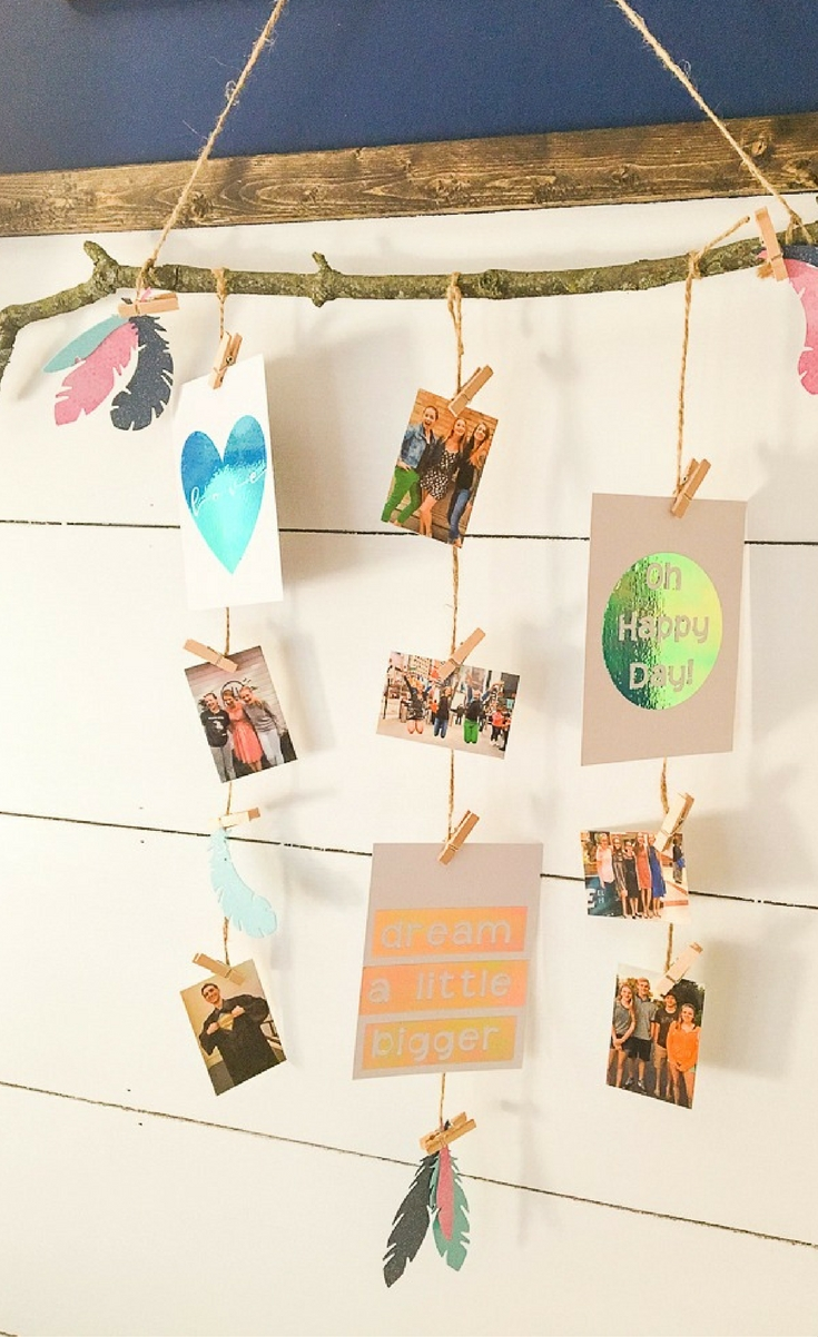 We love to throw parties around here and the more personalized the better! I'll show you how to create a photo display with Cricut that you'll be able to use long after your party is over!