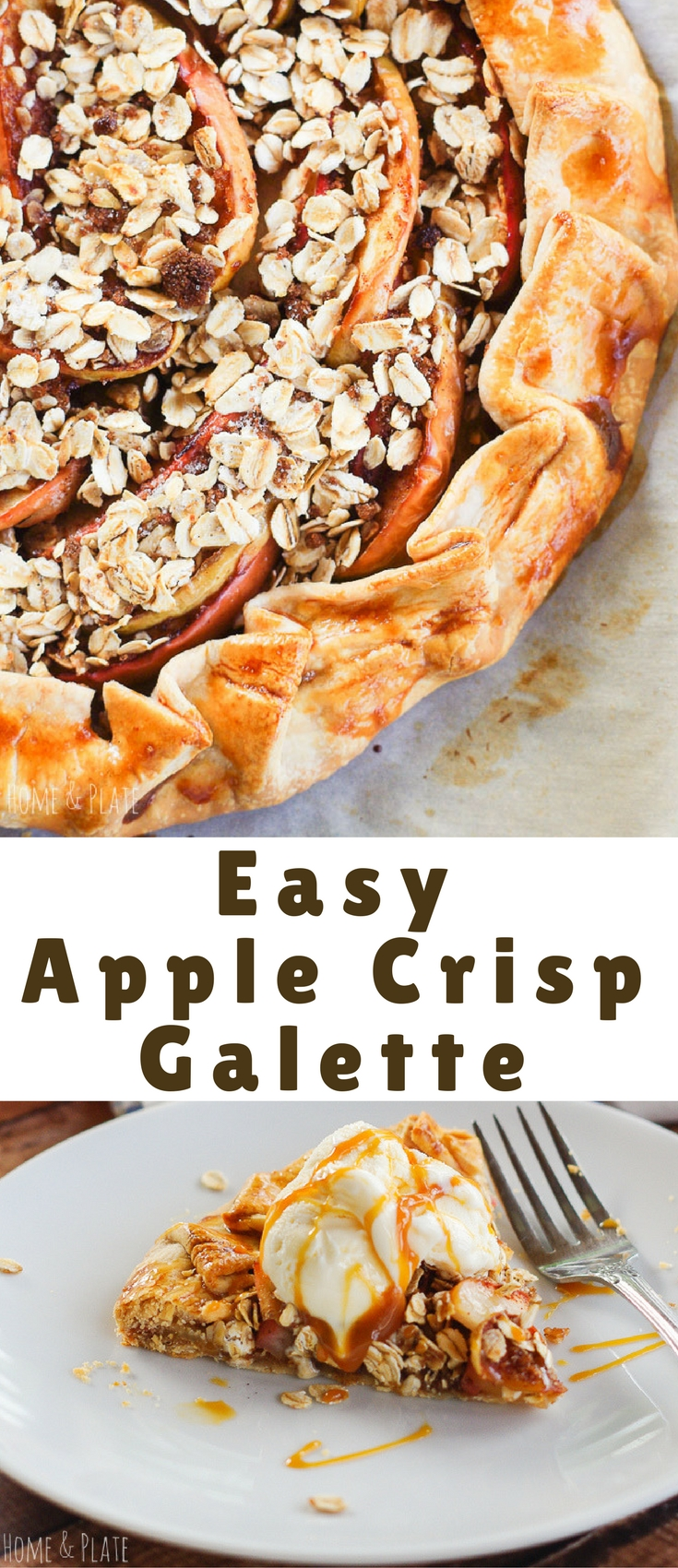 As delicious as mom's apple pie but easier! This easy apple crisp galette is the ideal fall dessert.