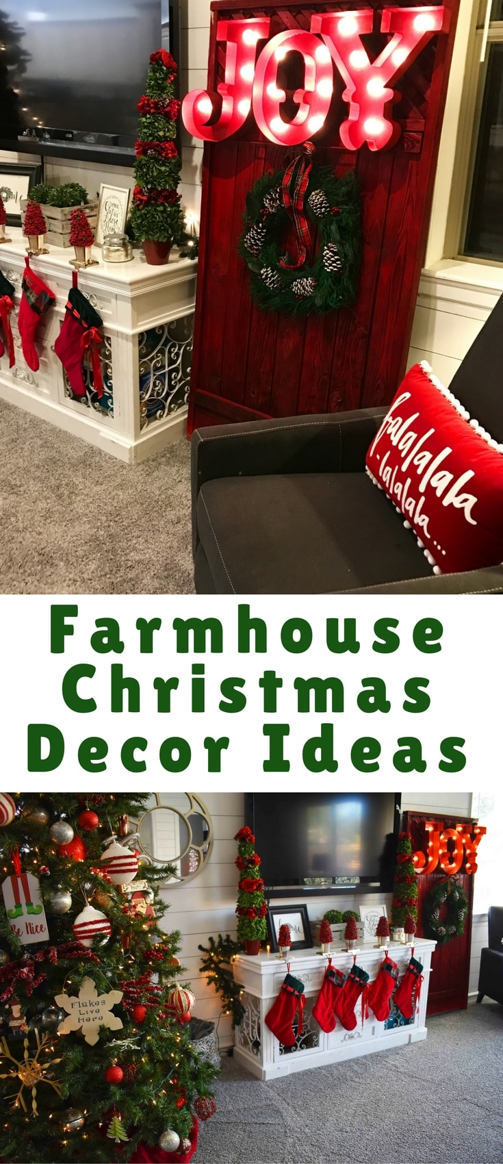 I couldn't wait to have my own home and decorate for Christmas and I now look forward to it every year! So I am sharing with you a few of our favorite Christmas decor ideas!