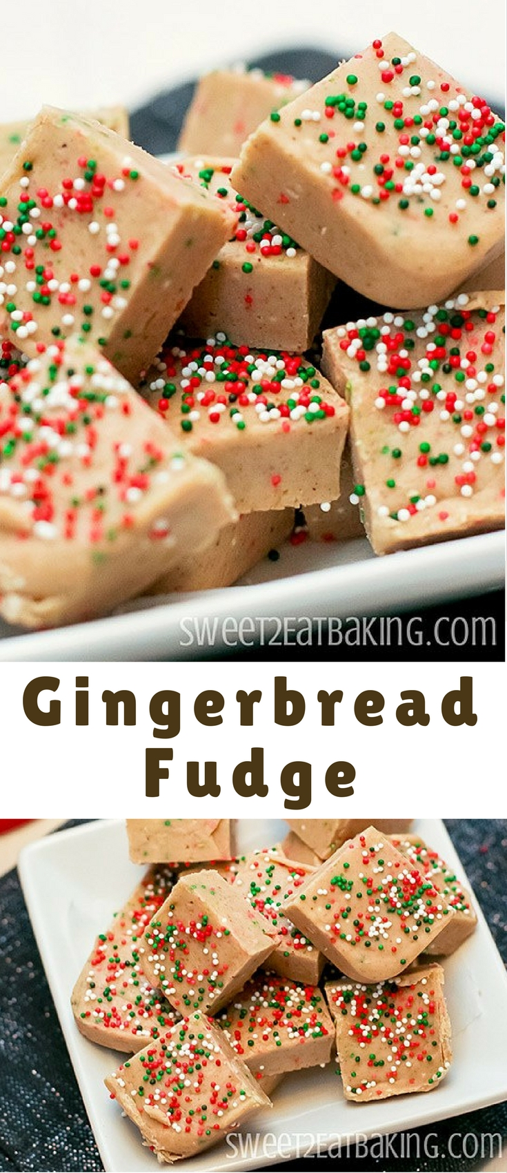 A quick and easy gingerbread fudge recipe. Perfectly spiced and festive, this gingerbread fudge is creamy and crunchy thanks to the festive Christmas sprinkles.