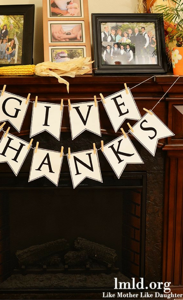 It is a picture of Fabulous Give Thanks Banner Printable