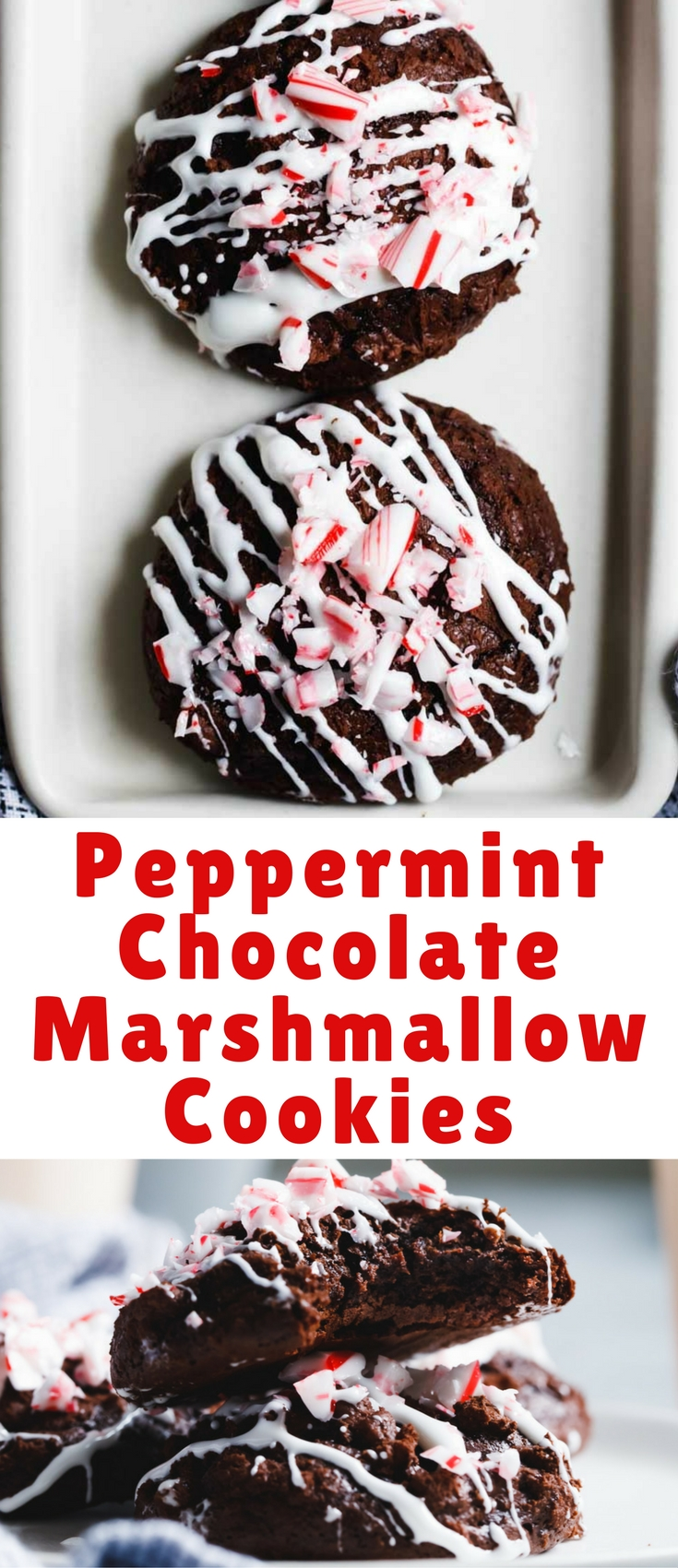 These peppermint chocolate marshmallow cookies are my latest wintery midnight jam.
