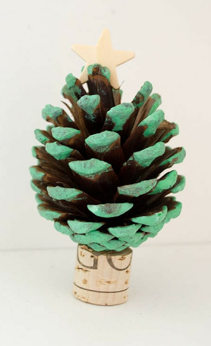 this pinecone christmas tree craft was a fun project to do with my kids using
