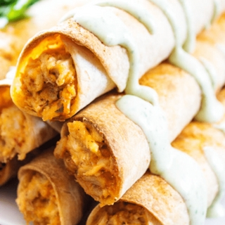 Baked Taco Ranch Taquitos
